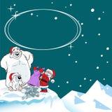 Ours blancs de cadeau de Noël Image libre de droits