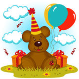 Anniversaire d'ours Photo stock