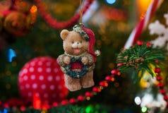 Ours décoratif de Noël Images stock