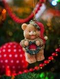 Ours décoratif de Noël Photographie stock