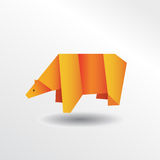 Ours d'origami Illustration Stock