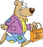 Ours de bande dessinée dans un costume illustration de vecteur