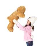 Ours de fille et de jouet Photos libres de droits