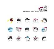 Ours de Frankie et pingouin de Todd illustration libre de droits