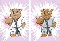 Ours de karaté illustration de vecteur