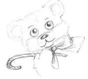 Ours de nounours avec la canne Photo libre de droits