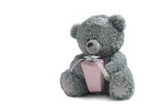 Ours de nounours avec le cadeau Images stock