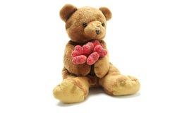 Ours de nounours dans l'amour Photos libres de droits