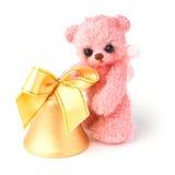 Ours de nounours dans le style classique de vintage avec le jouet de Noël Photos libres de droits