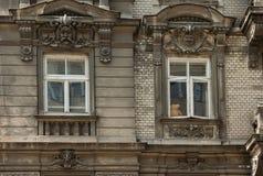 Ours de nounours dans une fenêtre élégante photographie stock libre de droits