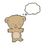 ours de nounours de bande dessinée avec la bulle de pensée Photo libre de droits