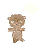 ours de nounours de bande dessinée avec la bulle de pensée Photos libres de droits