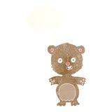 ours de nounours de bande dessinée avec la bulle de pensée Photo stock
