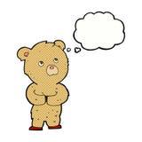 ours de nounours de bande dessinée avec la bulle de pensée Photographie stock libre de droits