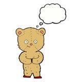 ours de nounours de bande dessinée avec la bulle de pensée Image libre de droits