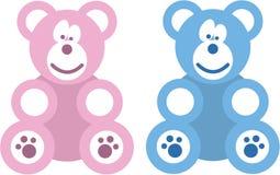 Ours de nounours de garçon et de fille Photo stock