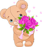Ours de nounours donnant le bouquet Photo libre de droits