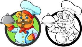 Ours de nounours et son plat de signature illustration libre de droits