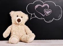 ours de nounours de fond de jour de valentines image libre de droits