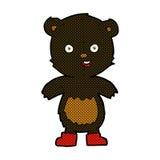 ours de nounours heureux de bande dessinée comique dans les bottes Photographie stock libre de droits