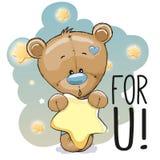 ours de nounours mignon de bande dessinée Image libre de droits
