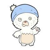 ours de nounours mignon de bande dessinée comique dans le chapeau Image stock