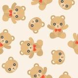 Ours de nounours mignon de modèle sans couture pour l'usage comme papier peint ou Christm illustration stock