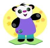 Ours de panda de sourire de chéri Photographie stock