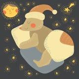 Ours de sommeil illustration stock