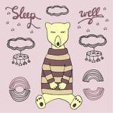 Ours de sommeil Illustration bonne de sommeil Image stock