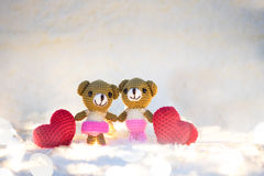 Ours de valentine d'amour de couples Photo stock