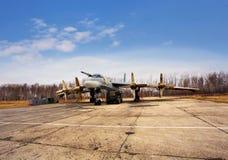 Ours du bombardier Tu-95, vue de face Image libre de droits