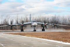 Ours du bombardier Tu-95, vue de face Photos stock