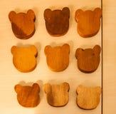 Ours en bois Image libre de droits