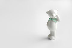 Ours en céramique blanc Photos libres de droits