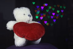 Ours et coeur Photographie stock