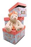 ours et coffres à jouets de nounours de mèche de bougie Images stock