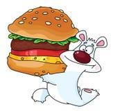 Ours et hamburger illustration de vecteur