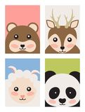 Ours et moutons et Panda Vector Illustration de cerfs communs illustration stock