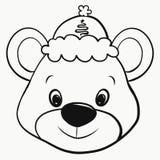 Ours gai dans un chapeau de Noël illustration libre de droits
