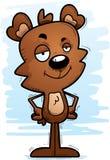 Ours masculin de bande dessinée sûre Images stock