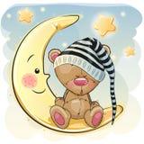 Ours mignon de sommeil Images libres de droits