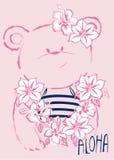 Ours mignon hawaïen de bébé Images libres de droits