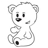 ours noir et blanc Photo libre de droits
