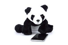 Ours panda avec l'activité d'humain quotidiennement sur le blanc d'isolement illustration libre de droits
