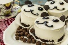 Ours panda de gâteau Photo libre de droits