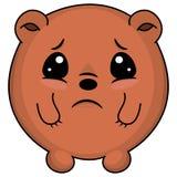 Ours taddy triste Illustration de bande dessinée d'un ours semblant triste Ours mignon d'anime de chibi illustration libre de droits