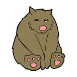 ours triste de bande dessinée Images stock