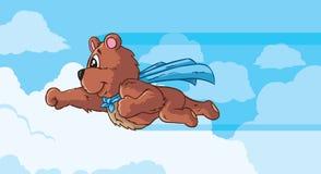 Ours volant, une partie d'une série. Image stock