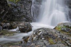 Waterfalls and rocks. Oursiere Waterfalls in Chamrousse mountain range Stock Image